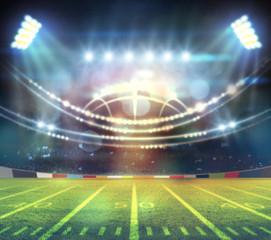 american football stadium 3D.