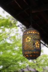 Lantern with blurring background