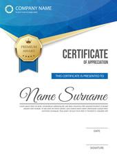 Certificate of appreciation template design. vector