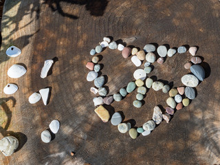 Love and peace rock display