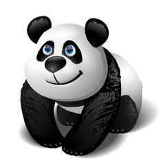 Smiling cartoon panda. Vector clip art illustration.