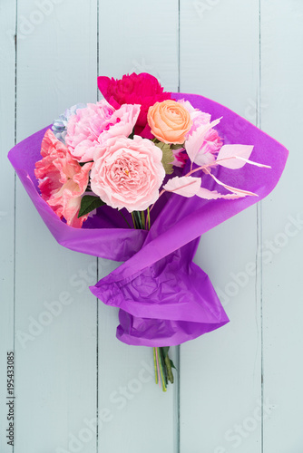 Crepe paper flower bouquet with peonies sweet peas poppies crepe paper flower bouquet with peonies sweet peas poppies ranunculus roses and mightylinksfo