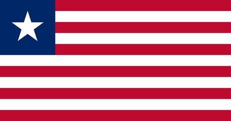 Flag in colors of Liberia, vector image.