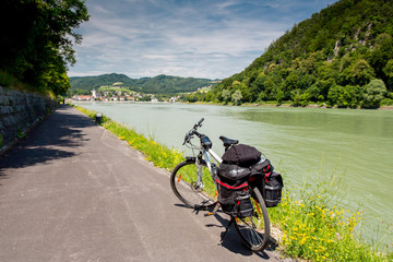 Danube cycle path / trail / route