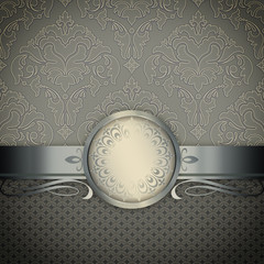 Wall Mural - Decorative background with vintage patterns.
