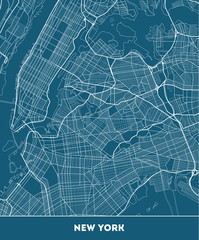 city map of New York with well organized separated layers.