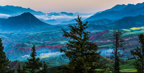 Qinghai Province Zhuoer Mountain Natural Scenic Area in China