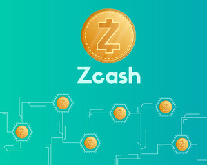 Cryptocurrency zcash network circuit style background