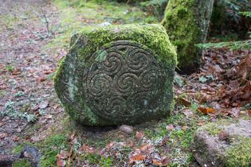 Celtic camp, Celtic statues, Vosges, France