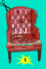 pop art seat