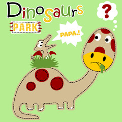Funny dinosaurs cartoon