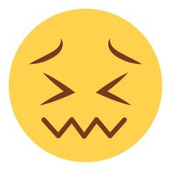 verzweifeltes Emoticon