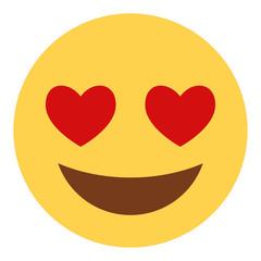 verliebtes Emoticon - Herzaugen