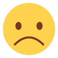 unglückliches Emoticon