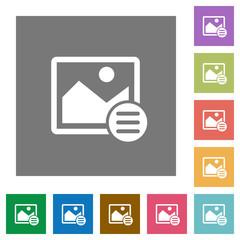 Image options square flat icons