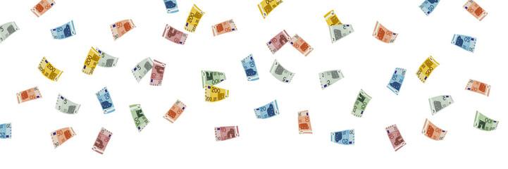 Geldscheine Regen Banner