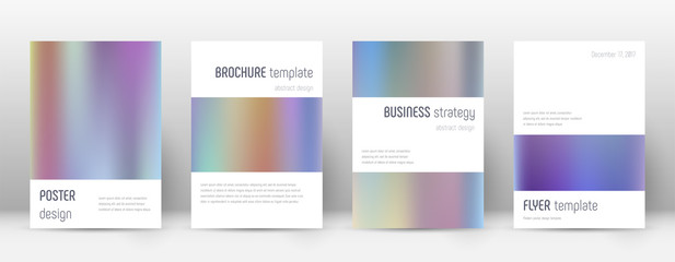 Flyer layout. Minimalistic memorable template for Brochure, Annual Report, Magazine, Poster, Corporate Presentation, Portfolio, Flyer. Artistic color gradients cover page.