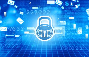 Cyber security concept. 2d Digital illustration