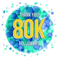 80 000 Followers thank you