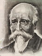 Jose Echegaray portrait from Spanish money