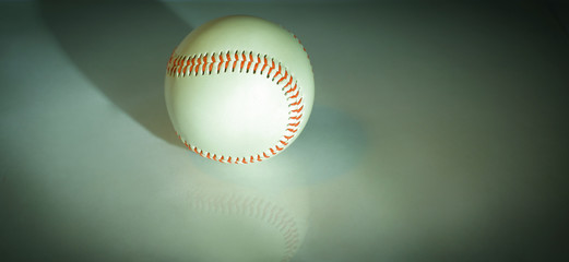 baseball ball with red stitches .isolated on a white