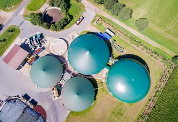 Biogasanlage von direkt oben