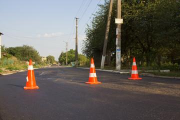 Road repair is blocked