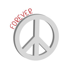 Forever peace symbol concept, vector