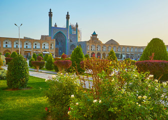 The beauty of central square of Isfahan, Iran