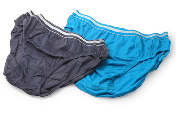 male underwear isolated with clipping path.