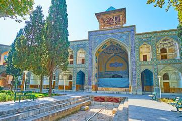 The old iwan (portal) of Chaharbagh madraseh, Isfahan, Iran