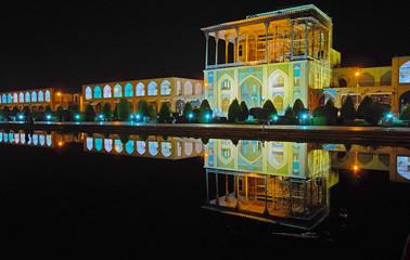 The walk in evening Isfahan, Iran