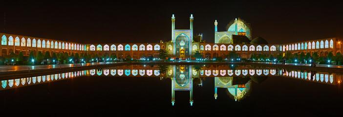 Beauty of illuminated Isfahan, Iran