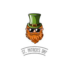 St. Patrick's day!  flat design icon on Saint Patrick's Day character leprechaun