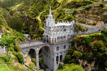 One of the most beautiful churches in the world. Sanctuary Las Lajas built in Colombia close to the Ecuador border