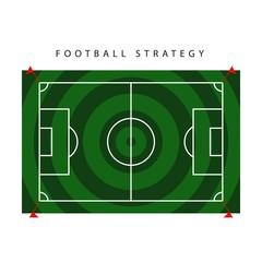 Football Strategy Vector Template Design