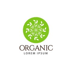 Organic Logo Vector Template Design