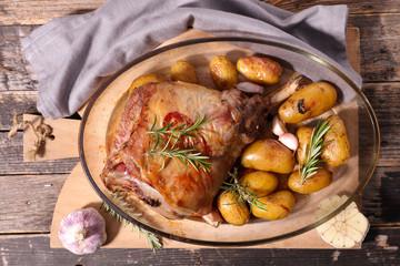 lamb meat and potato