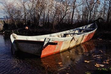 boat of the fishermen of the Bolsena lake