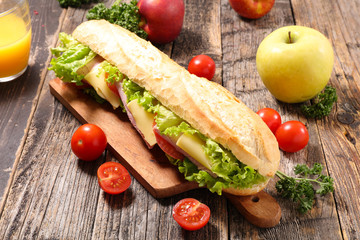sandwich with cheese and salad