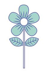 flower leave decoration natural icon vector illustration green pastel image