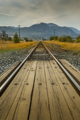 Railroad track near Kamloops, British Columbia, Canada
