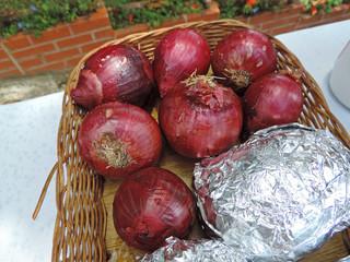 Big purple onions