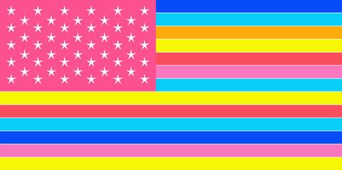 American flag, USA, vivid modern urban colors vector