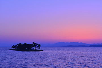 夕焼けの宍道湖