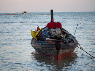 Fishing boat. Southern of Thailand.