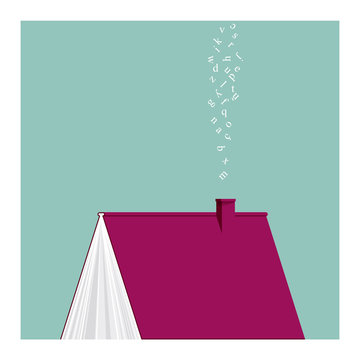 HOUSE BOOK. THE READER'S HOME. Serie of conceptual illustrations.