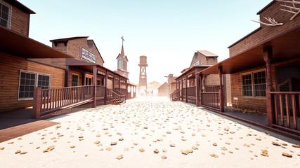 Cowboy Town Fototapete