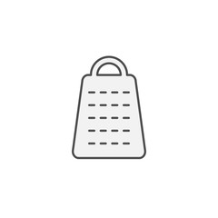 Cheese grater tool icon. Kitchen appliances for cooking Illustration. Simple thin line style symbol.
