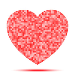 Heart Pixel icon. Vector illustration.